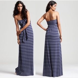splendid / venice striped maxi strapless halter